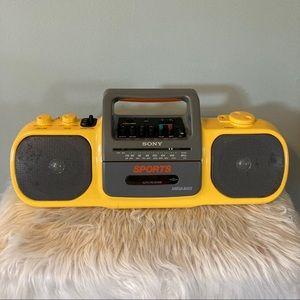 80s Sony Sport Boombox Mega Bass CFS-905 Cassette